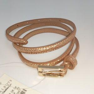 Talbots gold skinny belt!